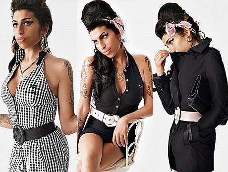 Amy Winehouse pour Fred Perry.