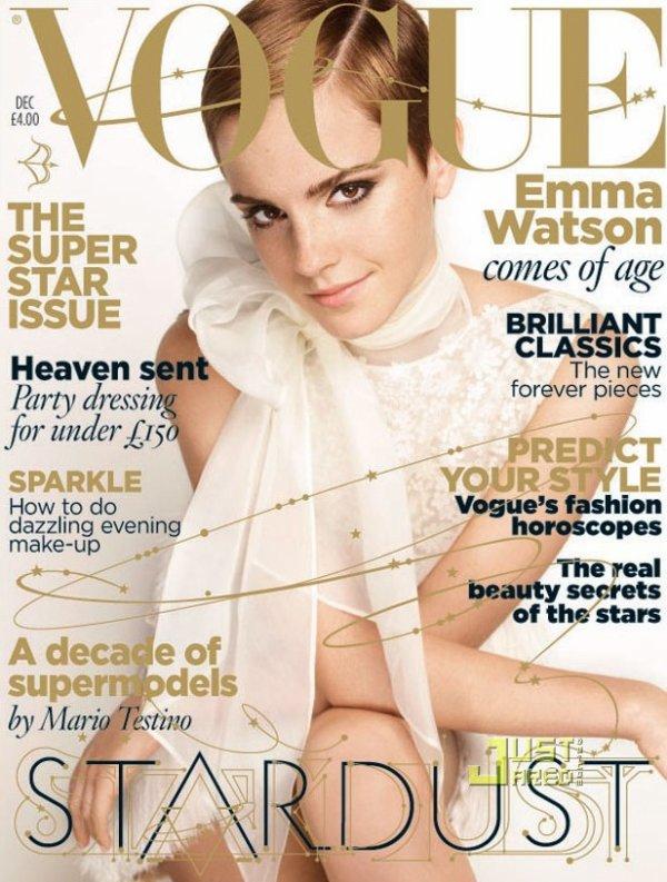 Emma Watson pose pour Vogue.
