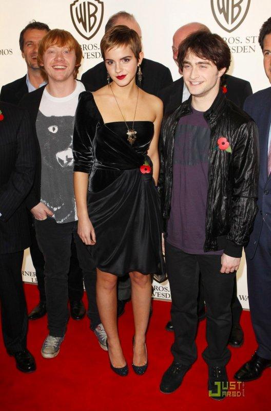 Rupert Grint, Emma Watson et Daniel Radcliffe : photocall à Londres.