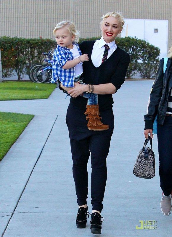 Gwen Stefani de sortie avec son fils Zuma. Los Angeles
