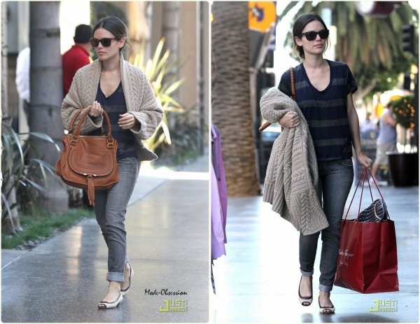 Rachel Bilson fait du shopping. Los Angeles