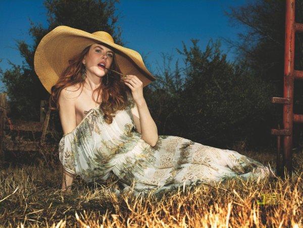 Nicole Kidman pose pour Marie Claire.