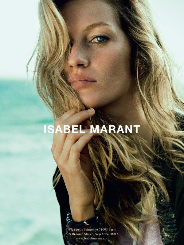 Gisele Bundchen pose pour Isabel Marant. printemps - été 2011