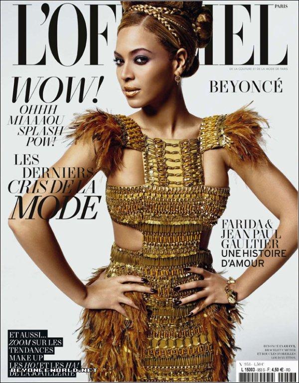 Beyonce pose pour L'Officiel.