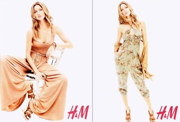 Gisele Bundchen pose pour H&M. printemps - été 2011