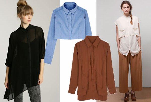Chemises : les nouveaux codes pour le printemps été 2011. source : Madmoizelle.com