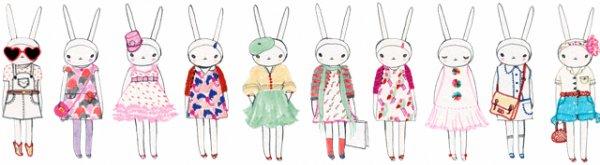 En boutique depuis le 28 février, Pimkie lance avec l'illustratrice Fifi Lapin une mini-collection de polo et de débardeur principalement, tout doux.