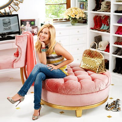 Dans le dressing d'Ashley Tisdale.