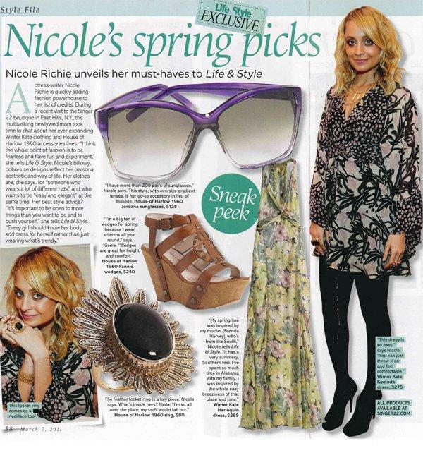 Nicole Richie dans la presse.