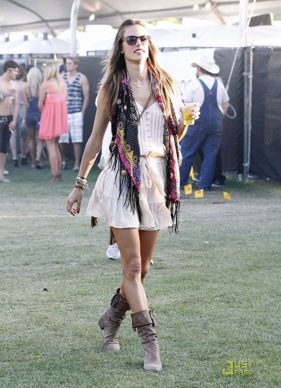 Coachella Music Festival  Alessandra Ambrosio / Emma Roberts / Brittany Snow / Camilla Belle / Nina Dobrev & Ian Somerhalder