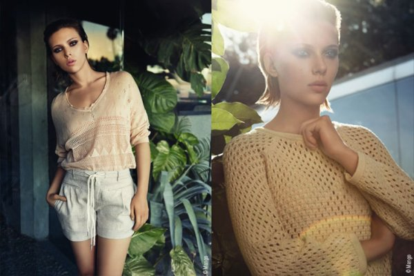Scarlett Johansson pose pour Mango.