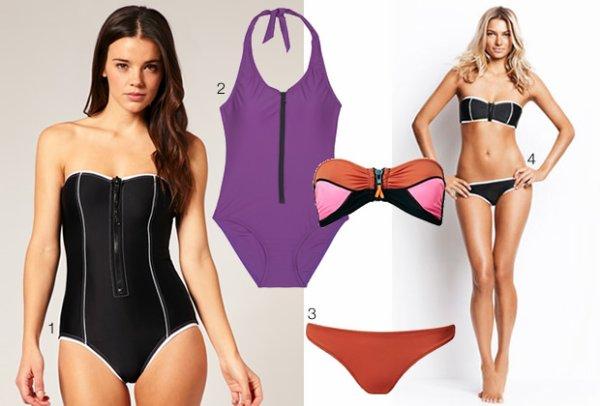 Les tendances maillots de bain 2011. source : Madmoizelle.com