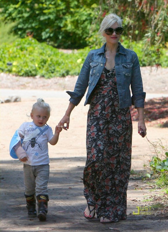Gwen Stefani de sortie avec son fils.