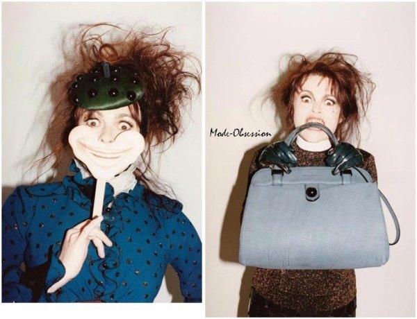 Helena Bonham Carter pose pour Marc Jacobs.
