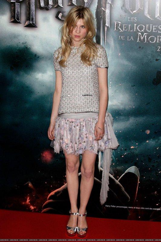 Clémence Poesy fait la promo du dernier Harry Potter. Paris & Londres