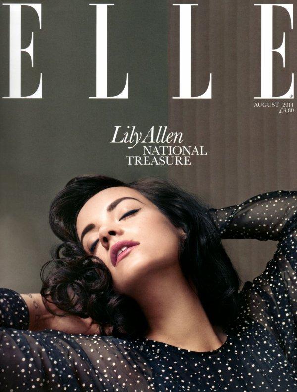 Lily Allen pose pour ELLE.