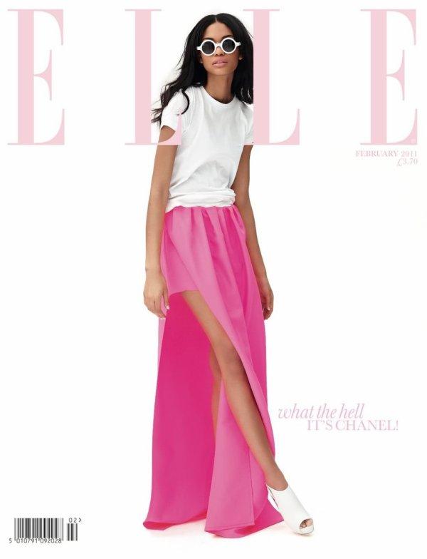 Chanel Iman pose pour ELLE.