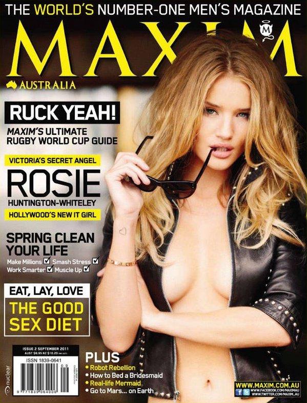 Rosie Huntington Whiteley pose pour Maxim.