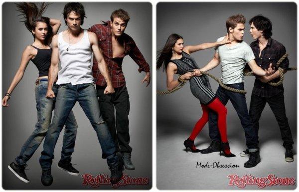 Les acteurs de Vampire Diaries posent pour Rolling Stone.