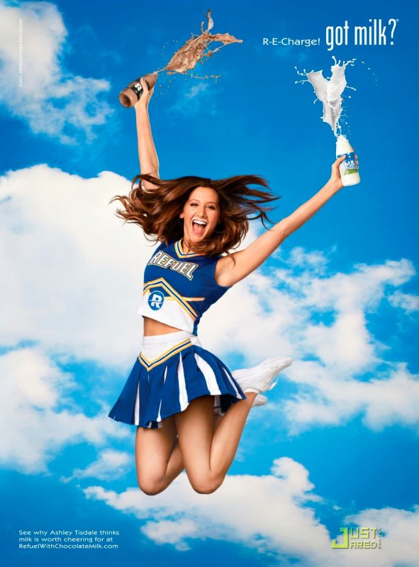 Ashley Tisdale pose pour la campagne Got Milk ?