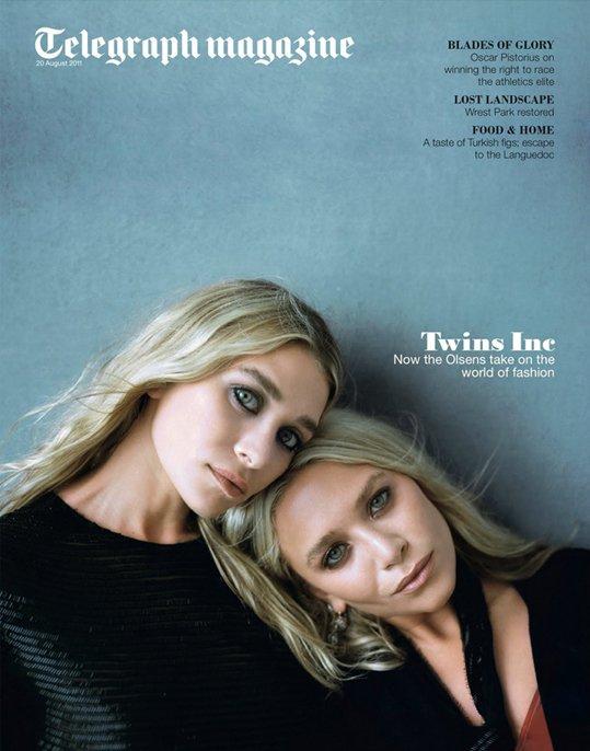 Les soeurs Olsen posent pour Telegraph magazine.