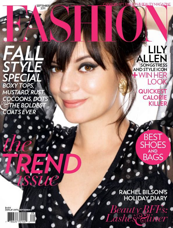 Lily Allen pose pour Fashion Magazine.