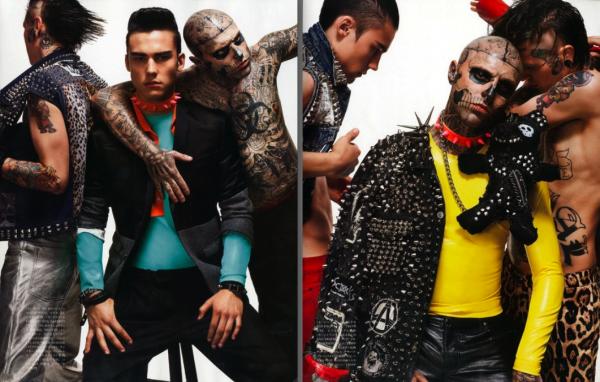 Rick Genest pose pour Vogue Hommes Japon.