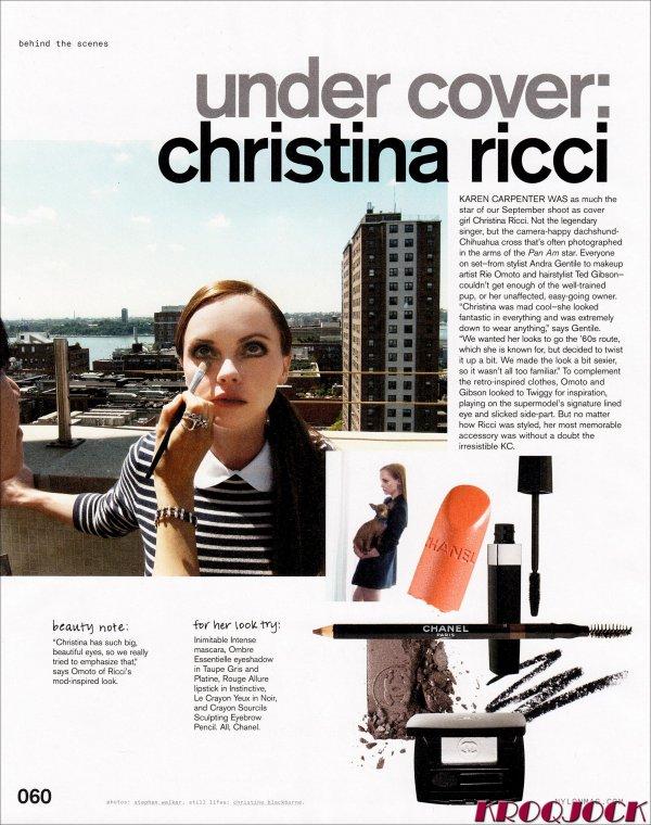Christina Ricci pose pour Nylon.
