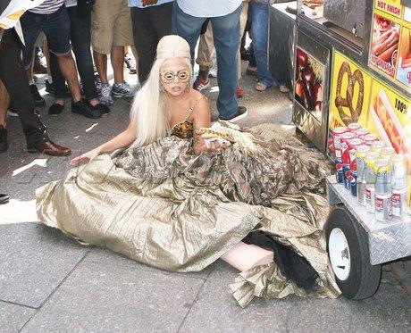 Lady Gaga sur un photoshoot.