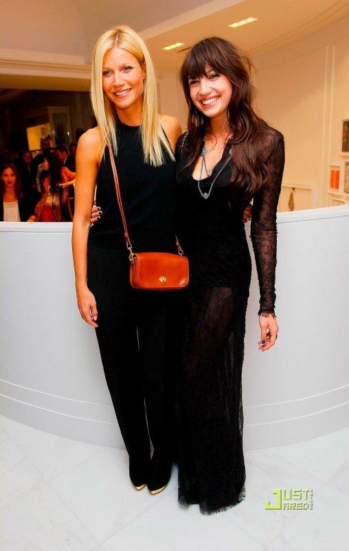 Gwyneth Paltrow et Daisy Lowe à un évènement à Londres. Vogue's Fashion's Night Out after party
