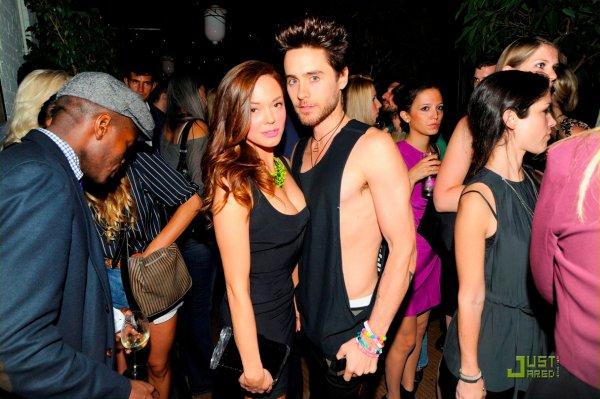 Rose McGowan et Jared Leto à une soirée Tommy Hilfiger. New York