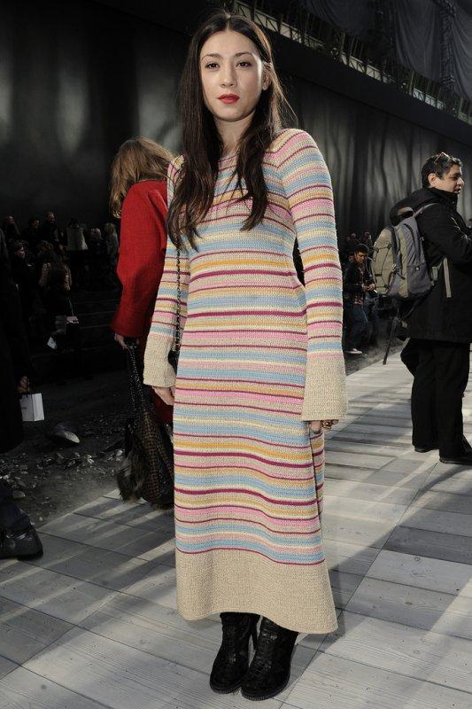 DÉFILÉS PRÊT À PORTER AUTOMNE-HIVER 2011/2012  Au premier rang du défilé Chanel