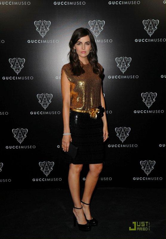 Camilla Belle à un évènement de la marque Gucci. Italie