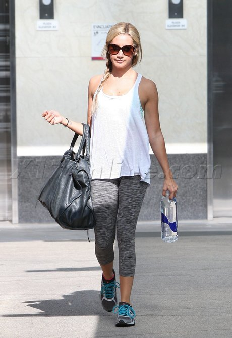Tenues de sport : Nicole Richie et Ashley Tisdale.