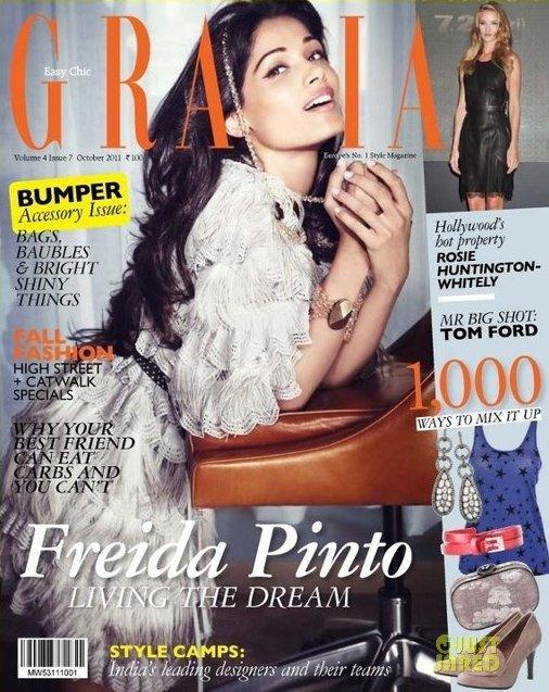 Freida Pinto pose pour Grazia.