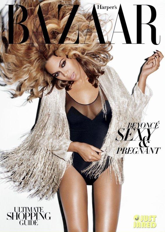 Beyonce pose pour Harper's Bazaar.