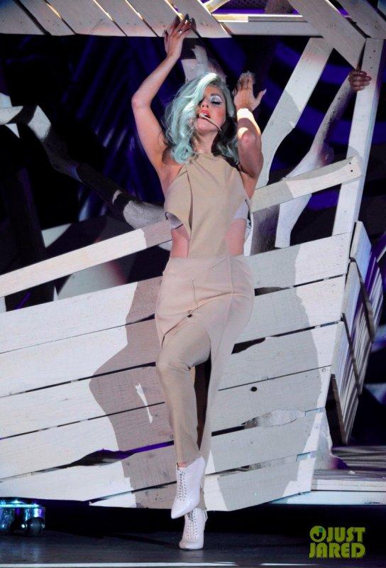 Lady Gaga à un concert. Los Angeles