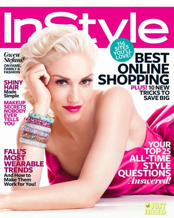 Gwen Stefani pose pour InStyle.