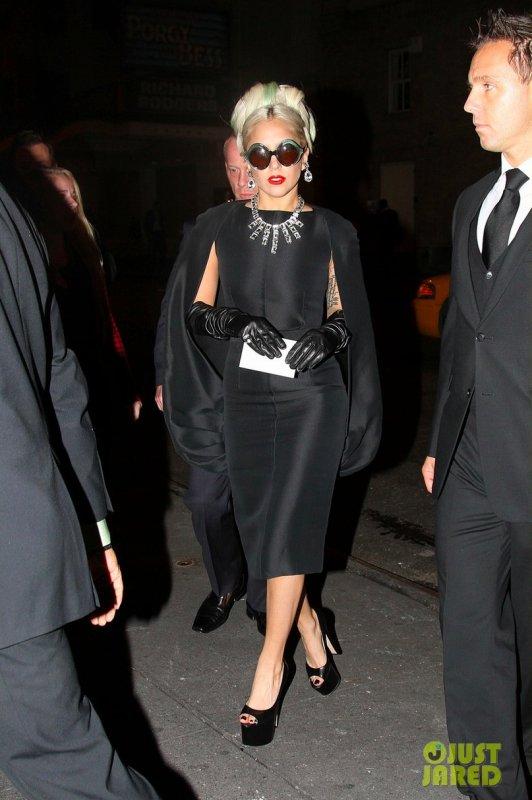 Lady Gaga de sortie. New York