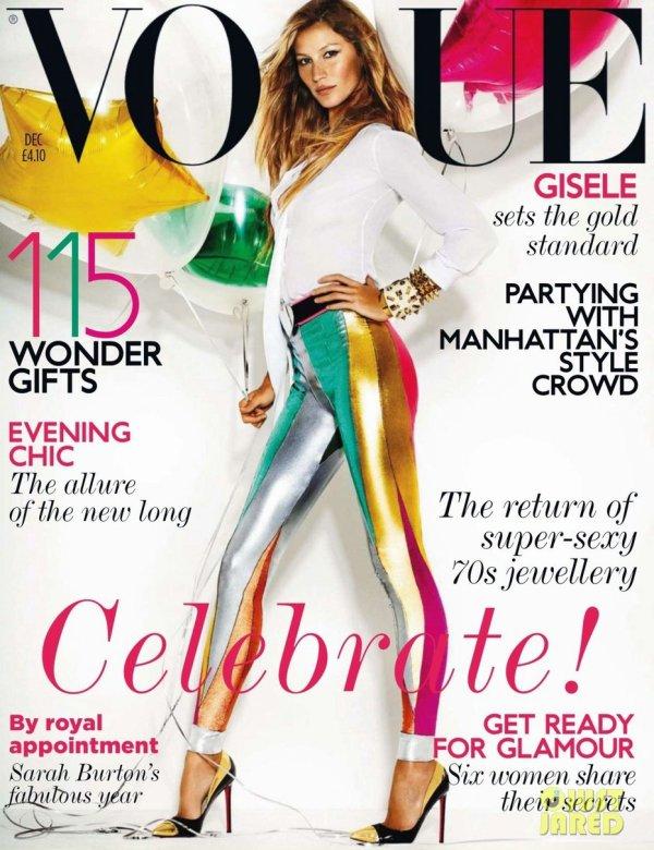 Gisele Bundchen pose pour le Vogue UK.