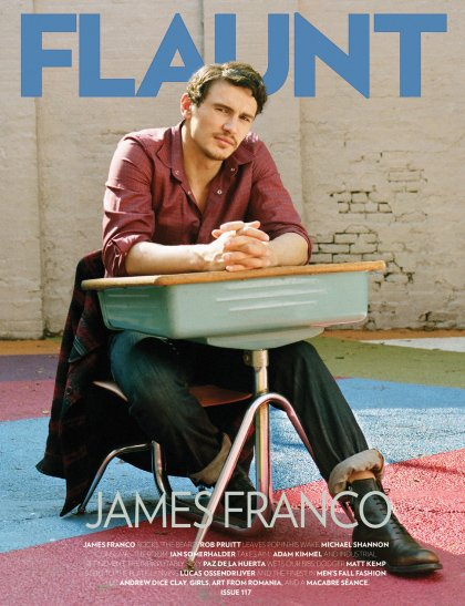 James Franco montre ses fesses en couverture du magasine Flaunt.