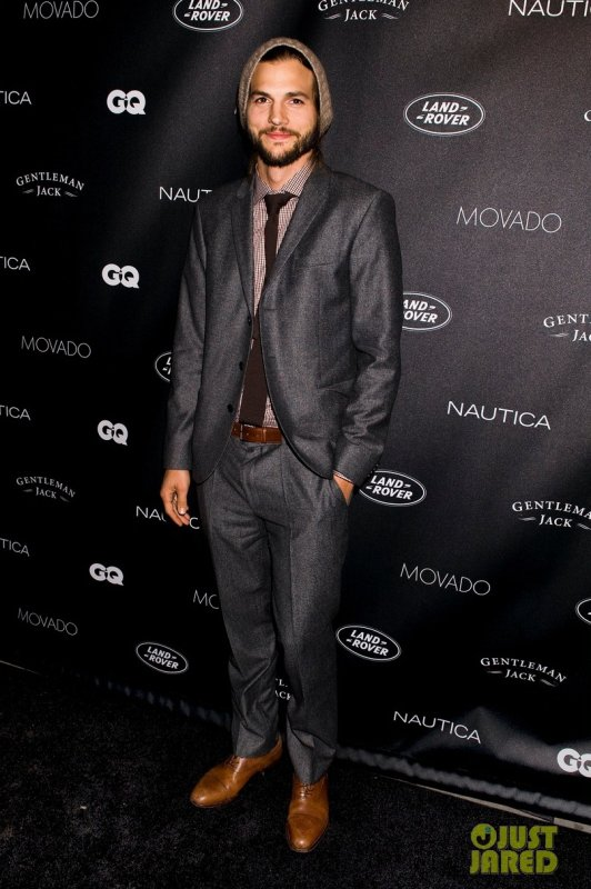 Ashton Kutcher à un évènement à New York. GQ's Gentlemen's Ball