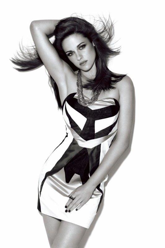 Kristen Stewart pose pour Glamour.