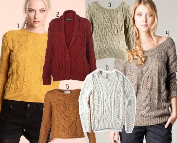 Pulls & Gilets : sélection automne-hiver 2011 / 2012 source : Madmoizelle.com