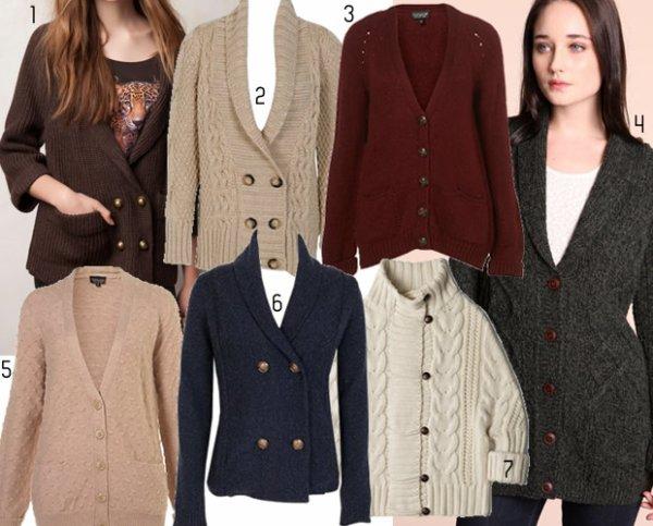Pulls & Gilets : sélection automne-hiver 2011 / 2012. source : Madmoizelle.com