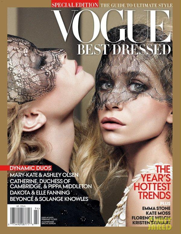 Les soeurs Olsen posent pour Vogue.