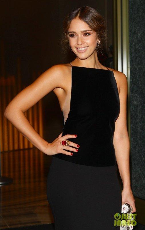 Jessica Alba à un évènement. Italie