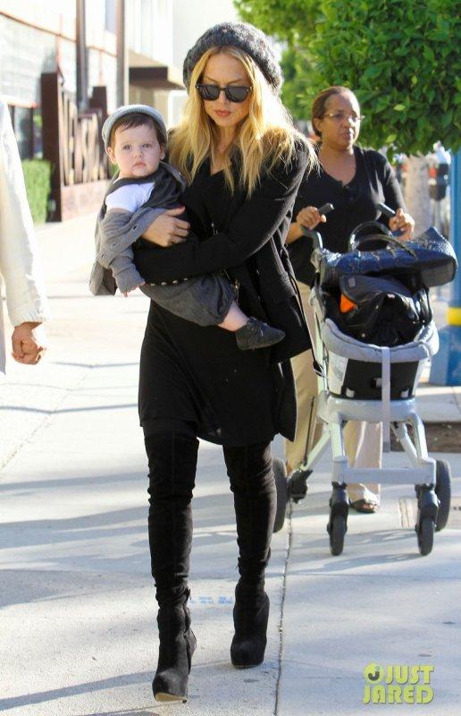 Rachel Zoé de sortie avec son fils. Beverly Hills