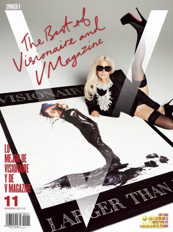 Lady Gaga pose pour V Magazine.