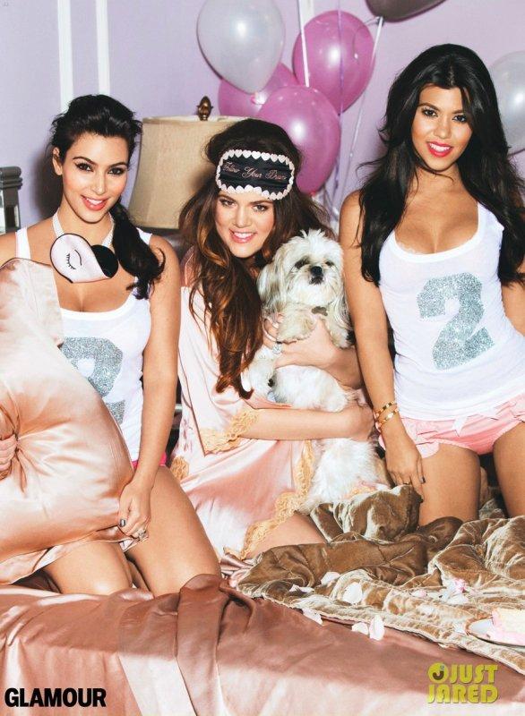 Les soeurs Kardashian posent pour Glamour.